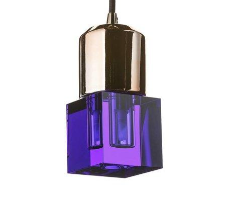 Seletti LED-Lampe crystaled neue Squared blauen Kristallglas mit E27 7x7x12,5cm