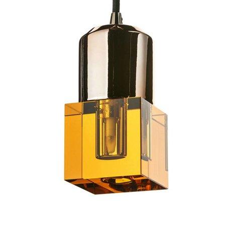 Seletti LED-Lampe crystaled-Squared neue Bernstein Kristallglas mit E27 7x7x12,5cm