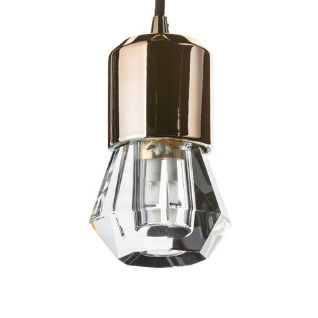 Seletti LED-Lampe crystaled neue Spot-transparente weiße Kristallglas mit E27 Ø7x12,5cm