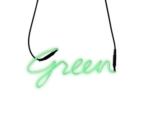 Seletti Applique Shades Neon-vert vert 34,9x15,7cm de verre de transformateur