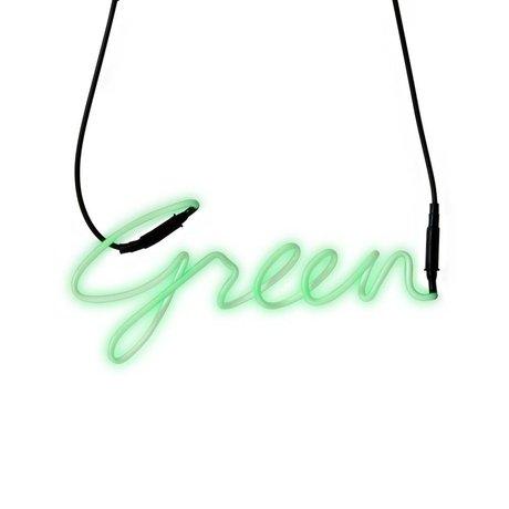 Seletti Wall Lamp Shades Neon-green green transformer glass 34,9x15,7cm