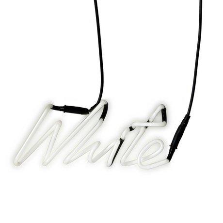Seletti Wandlampenschirme Neon-weiß und weiß mit Transformator Glas 29x12,3cm