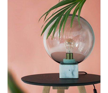 FÉST Lampe de table Muse, gris, marbre, verre, 30x30x45cm