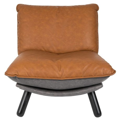 Zuiver Fauteuil lounge Lazy Sack bruin PU leer 75x94x81cm