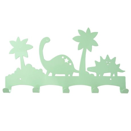 Eina Design Coat rack Dino mint green metal 40x21,5cm