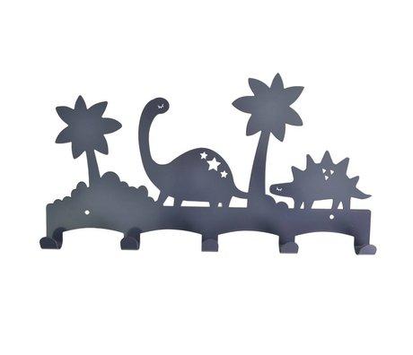 Eina Design Kapstok Dino antraciet grijs metaal 40x21,5cm
