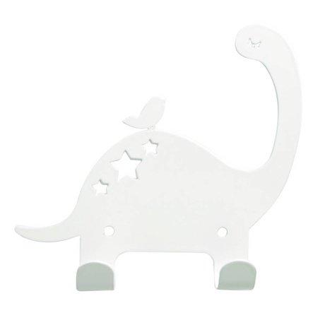 Eina Design Wandhaken Dino weiß Metall 15x15,5cm