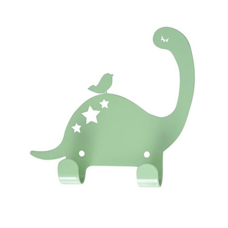 Eina Design Wandhaak Dino mintgroen metaal 15x15,5cm