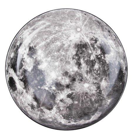 Seletti Diner bord Moon wit grijs porselein Ø30x3,5cm