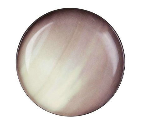 Seletti Dessert bord Saturn bruin porselein Ø16,5x2cm