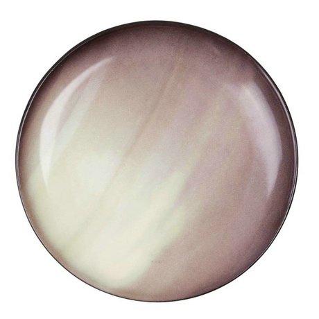 Seletti Assiette à dessert Saturn brun porcelaine Ø16,5x2cm