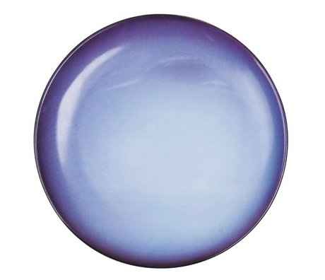 Seletti Dessert bord Neptune blauw porselein Ø16,5x2cm