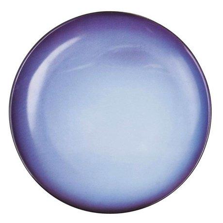 Seletti Assiette à dessert Neptune bleu porcelaine Ø16,5x2cm