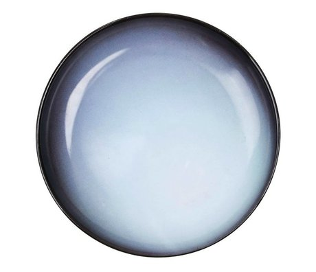 Seletti Diep bord Uranus blauw porselein Ø23,5x3,5cm