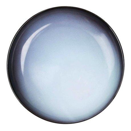 Seletti Assiette creuse Uranus bleu porcelaine Ø23,5x3,5cm