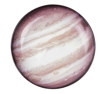 Seletti Diep bord Jupiter bruin multicolour porselein Ø23,5x3,5cm