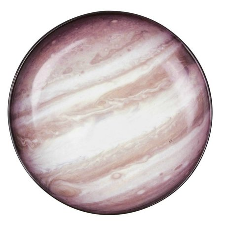 Seletti Assiette creuse Jupiter multicolor brun porcelaine Ø23,5x3,5cm
