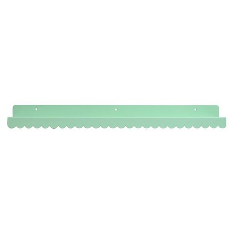 Eina Design Wall shelf mint green metallic 50x9cm