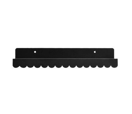 Eina Design Wall shelf black metal 29x9cm