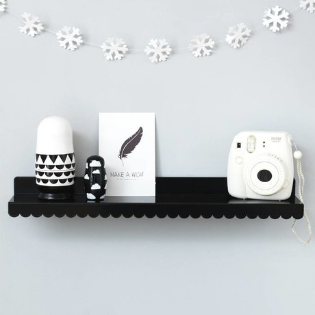 Eina Design Wandplank zwart metaal 50x9cm