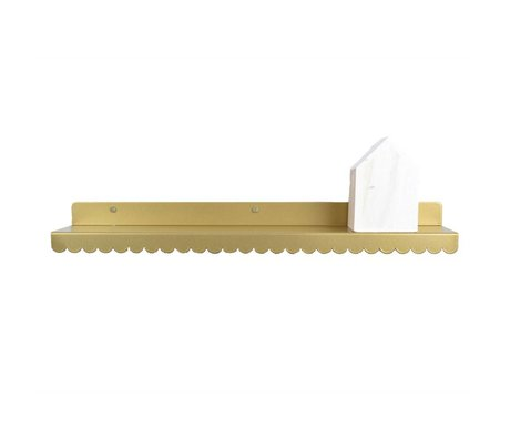 Eina Design Wall shelf gold metal 50x9cm