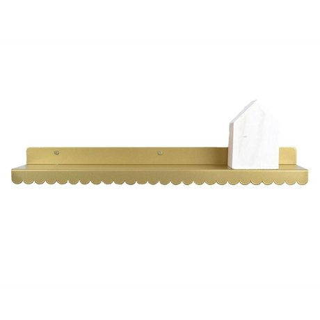 Eina Design Wandplank goud metaal 50x9cm