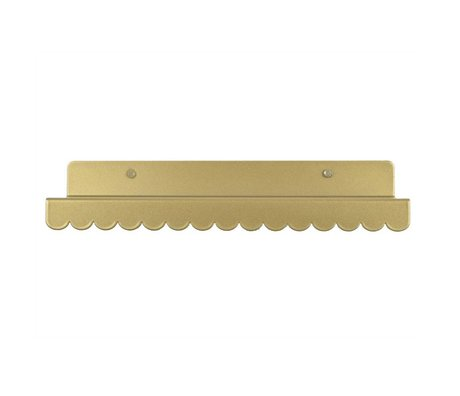 Eina Design Wall shelf gold metal 29x9cm