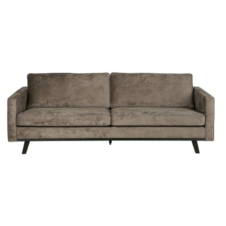 BePureHome 3-seat sofa Rebel brushed brown polyester wood 230x86x85cm