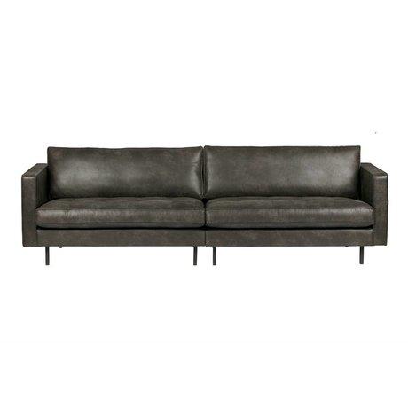 BePureHome 3-Sitzer Rodeo klassische schwarze Leder 275x88x83cm
