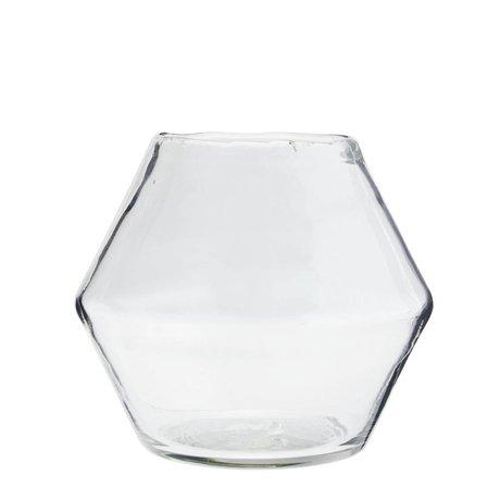 Madam Stoltz Vase transparentes Glas Ø19x16cm