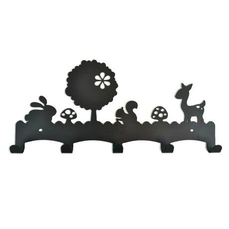 Eina Design Woodland black metal coat rack 40x19cm