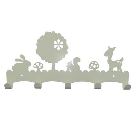 Eina Design Kleidersänder Woodland weißes Metall 40x19cm
