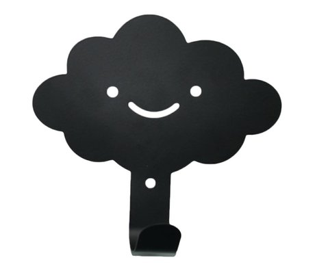 Eina Design Wall Hook cloud black metal 14x13cm