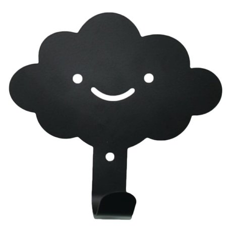 Eina Design Crochet mur nuage 14x13cm métal noir