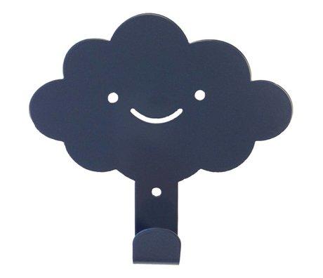 Eina Design Wandhaak wolk antraciet grijs metaal 14x13cm