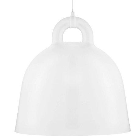 Normann Copenhagen Hanging lamp Bell white aluminum L Ø55x57cm