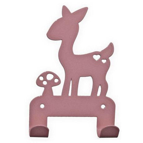 Eina Design Wall Hook deer light pink metal 19x10,5cm
