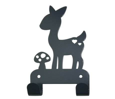 Eina Design Wall Hook deer gray metal 19x10,5cm