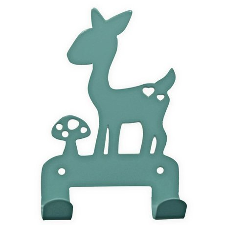 Eina Design Wall Hook deer blue metal 19x10,5cm