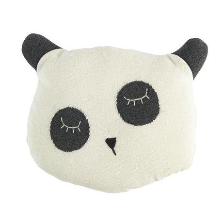 Sebra Coussin Panda coton blanc 34x8x29cm