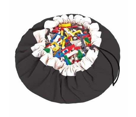 Play & Go Sac de rangement / tapis de jeu Classic Black coton noir Ø140cm