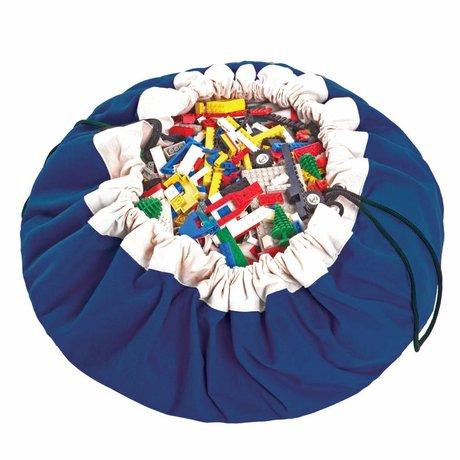 Play & Go Sac de rangement / coton bleu classique playmat bleu Ø140cm