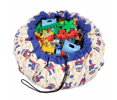 Play & Go Sac de rangement / playmat Superhero Ø140cm de coton multicolore