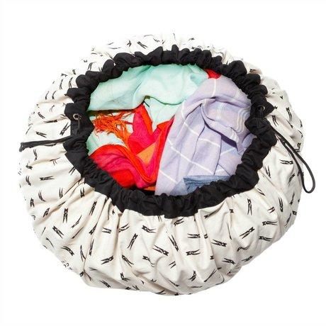 Play & Go Storage bag / towel Clothespin black cotton Ø140cm