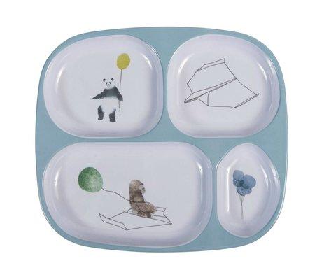 Sebra table pour les enfants de quatre boîtes dans le ciel bleu 24x21x2cm mélamine