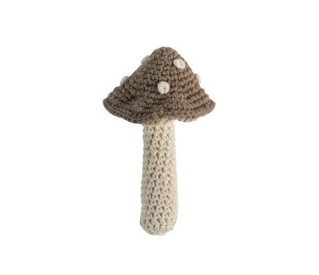 Sebra 7x12cm de coton léger champignon Rattle