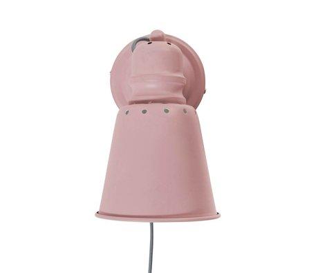 Sebra Wall lamp light pink metal Ø13cm