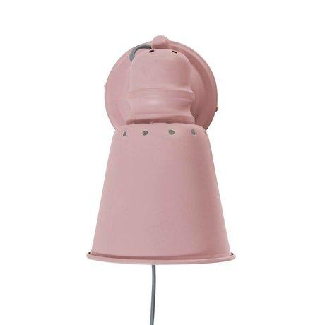 Sebra Wandleuchte rosa Metall Ø13cm