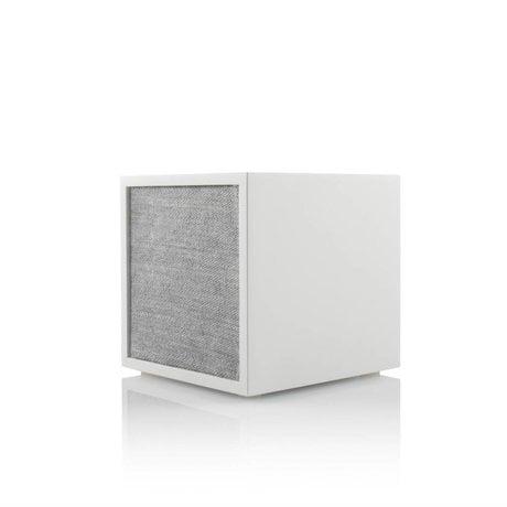 Tivoli Audio Cube speaker white gray wood 11,7x11x11cm
