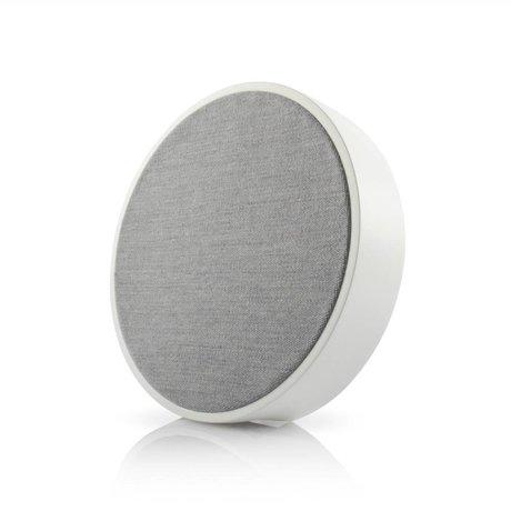 Tivoli Audio Speaker Orb wit grijs hout Ø23x5cm